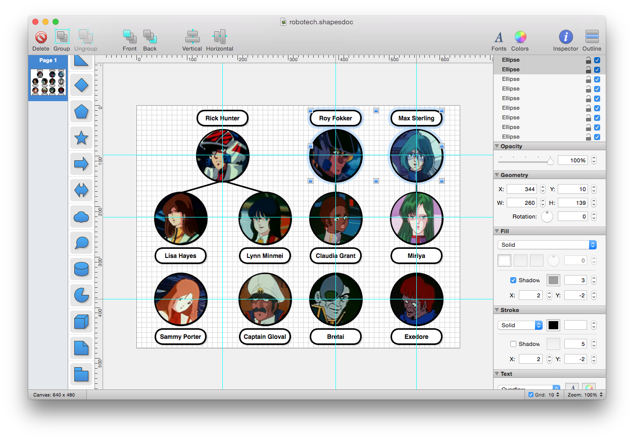Shapes a simple yet powerful diagram and flowchart app for mac os x ccuart Choice Image